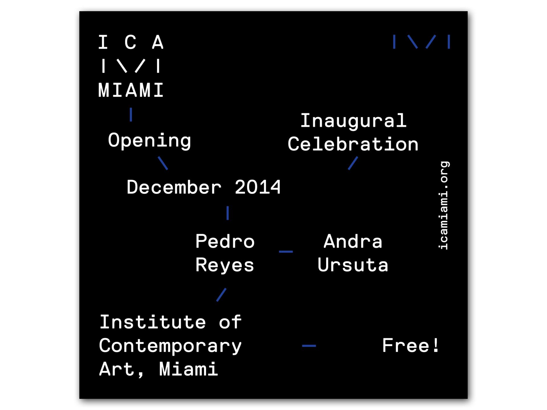 STUDIO  LHOOQ ICA Miami: Identity System